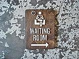 Claude16Poe Wartezimmer Büro Schilder mit Oder Ohne Pfeil 9x 12Größe Patienten Bereich Modernes Empfang Schilder ab Business Wege Finden Decor
