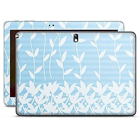 Samsung Galaxy Note 10.1 2014 Edition Case Skin Sticker aus Vinyl-Folie Aufkleber Flower Blätter Muster