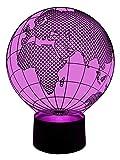 originelle 3D LED-Lampe Deko-Leuchte Globetrotter Weltatlas Nachttischlampe Wohnlicht Nachtlicht
