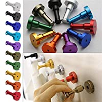 Features:Various and bright colors, very decorative for your house.Strong load-bearing, no rust and fade, make your house in order.Fixing screws included.It is so practical and professional for daily using.Simple  to operate and convenient to use.Des...