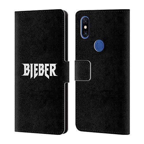 Head Case Designs Offizielle Justin Bieber Logo Name Tour Merchandise Brieftasche Handyhülle aus Leder für Xiaomi Mi Mix 3