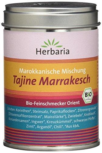 "Herbaria ""Tajine Marrakesch"" Marokkanische Gewürzmischung, 1er Pack (1 x 100 g Dose) - Bio"