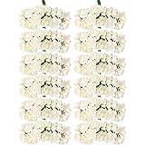 144pcs Ramo Rosa Artificial Flor Papel Decoración para Hogar Boda (maifil)