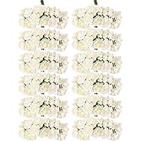 144pcs Carta Artificiale Rosa Boccioli Di Fiori, Mini Partito Mazzo Arredamento- Avorio