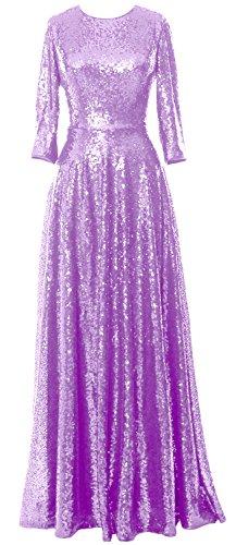 MACloth -  Vestito  - linea ad a - Maniche a 3/4 - Donna Lavender 38