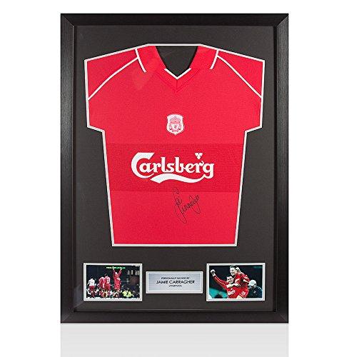 Framed-Jamie-Carragher-Signed-Liverpool-Shirt-2001-Treble-Season