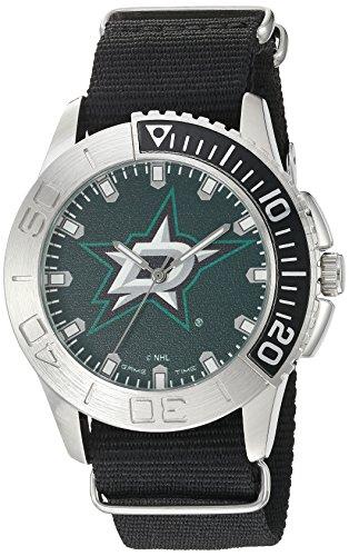 Game Time Herren analog Japanischer Quarz Uhr mit Nylon Armband NHL-STA-DAL Dallas Stars Hockey Logo
