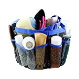 Shayson Portable Mesh Shower Caddy Shower Organiser Quick Dry Hanging Toiletry Organiser Cosmetic Storage Bags with 8 Mesh Pockets Mildew Resistant Water Resistant or Home Travel GYM Dorm Camp Bathroom Multifunctional (Blue)