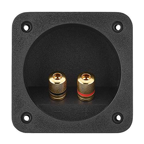 Terminale altoparlante contenitore per altoparlanti stereo per auto scatola quadrata con connettore a molla per componenti acustici