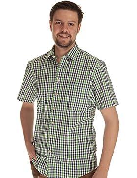 Almsach Herren Hemd kurzarm Trachtenhemd Herren Hemd Tracht kariert