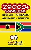 29000+ Deutsch - Afrikaans Afrikaans - Deutsch Vokabular