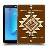 Head Case Designs Braun Neo Navajo Ruckseite Hülle für Samsung Galaxy Tab S3 9.7