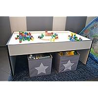 Preisvergleich für Spieltisch aus Holz ca.116x72x45cm (weisse oder schwarze Kante -wählbar)