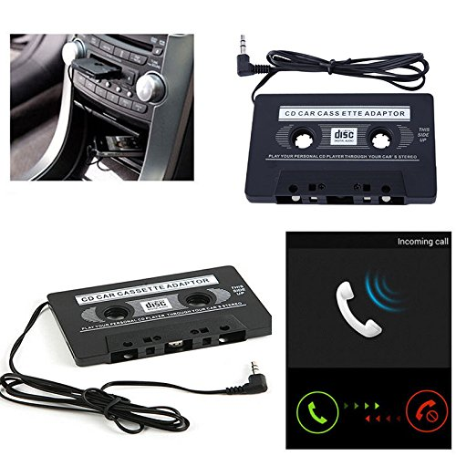 Sedeta® Cassette de Cassette Audio de Voiture à Jack AUX Compatible avec iPod MP3 iPhone Converter Adaptateur