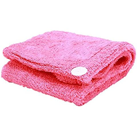 Fiori da bagno in microfibra asciugamano per capelli–Asciugatura rapida capelli Wrap Turbante rose red