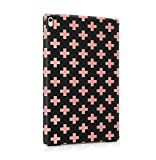 Black Granite & Pink Cross Pattern Dünne Rückschale aus Hartplastik für iPad Pro 9.7 Tablet Hülle Schutzhülle Slim Fit Case cover