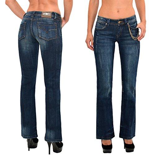 by-tex Jean femme bootcut Jean pour femmes pantalon boot cut Jeans J170 Z145
