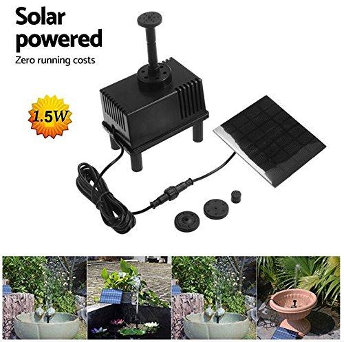 OUNONA Solar Springbrunnen für Gartenteich Wasserspeier Solar Wasserpumpe Kit Solar Brunnen Panel Teich Tauchbewässerung für Kleine Teich und Wasserkreislauf