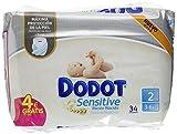 Dodot Sensitive - Pañales para bebés, talla 2 , 7 packs de 34, 238 pañales
