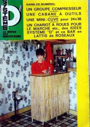SYSTEME D N? 272 du 01-09-1968 UN GROUPE COMPRESSEUR UNE CABANE A OUTILS UNE MINI-CUVE POUR 24X36 UN CHARIOT A ROUES POUR LE MARCHE BAR EN LATTIS DE ROSEAUX POUR LE PECHEUR BRICOLEUR MODELISME - PEINTURE - NOUVEAUTE par Collectif