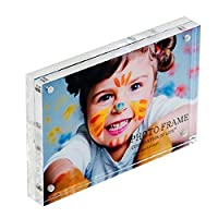 "Combination of Life 5""X7"" Clear Acrylic Double Sided Picture Frame Magnetic Photo Holder with 10+10mm Panels"