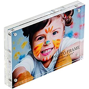 M Double sided rotating spinner glass photo frame