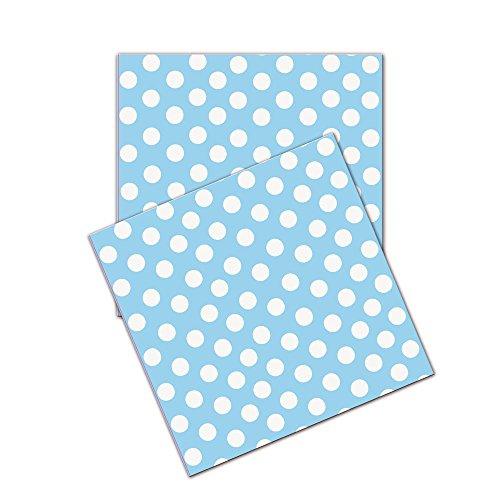 Verbetena - Pack de 20 servilletas con lunares, 33 x 33 cm, color azul (016001139)