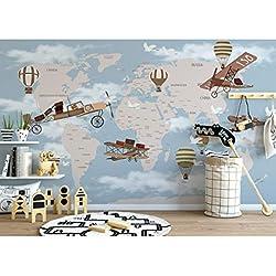 Papier Peint Mural Poster Géant 3D Carte De L'Avion Luxe Enfant Chambre Garcon Fille Ado Décoration De La Maison