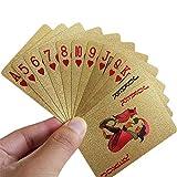 EisEyen Luxus Poker Gold Silber Pokerkarten Spielkarten aus PVC Kunststoff Goldene Folie Kartenspiel