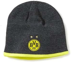 PUMA Herren BVB Mütze Beanie, Blazing Yellow/Dark Gray Heather, One size, 743548 02