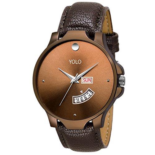 Yolo Quartz Analogue Brown Dial Men's & Boy's Watch (Ygs-0126)