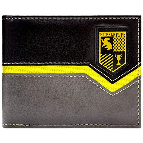 Cartera de Warner Harry Potter Escudo de Hufflepuff Gris