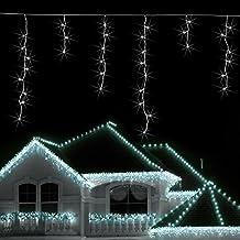 Blumfeldt Dreamhouse luci illuminazione natalizia (catena luminosa da 8 metri, 160 LED, cavo da 6 metri, effetto snow motion, IP44, per interni ed esterni) - bianco