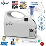 #1: Dr Trust Piston Compressor Handy Nebulizer with Flow Adjuster (White)
