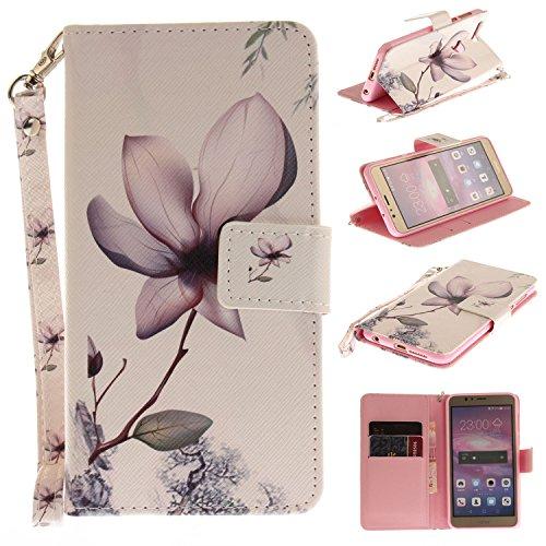 Qiaogle Telefon Case - PU Leder Wallet Schutzhülle Case für Apple iPhone 7 Plus (5.5 Zoll) - TX81 / Katze TX79 / Tokyo Sakura