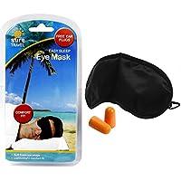 Preisvergleich für Komfort-Schlafmaske und geräuschdämmende Schaumstoff-Ohrenstöpsel von Sure Travel, 1 x Schlafmaske + 1 Paar Ohrenstöpsel