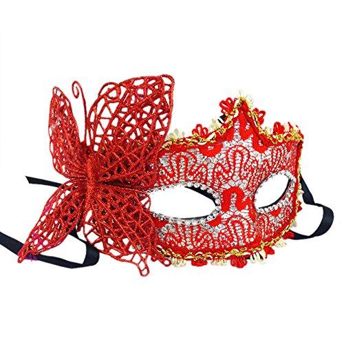 Cdet Halloween-Maske Zufällige Farbe Damen Maske Schmetterlings-Make-up-Ball Prinzessin Maske Karneval Masken Party Masken Charme Maske Spaß Maske