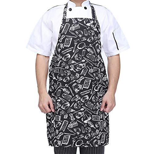 Schürze, Kochschürze mit Taschen, Verstellbarem Küchenschürze, Grillschürze,latzschürze,Küchenschürze für Frauen Männer Chef- Einfach zu Reinigen