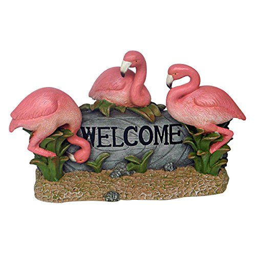 Design Toscano - Pink Flamingo Welcome