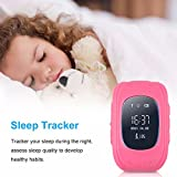 Bambini Smartwatch Impermeabile Smart watch GPS Tracker Kids orologio da polso telefono SIM anti-perso braccialetto SOS, controllo di iPhone iOS Android Smartphone Protect your Baby Q50 Rosa …