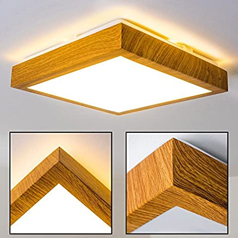 Plafonnier LED Wood - 900 Lumen - 12 Watt - 3000 Kelvin ( Blanc chaud )