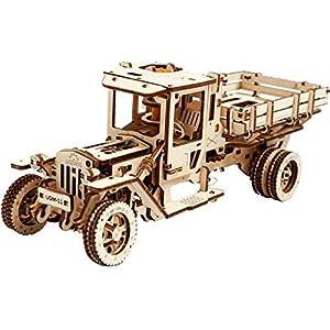 Ugears UGM-11 Camión Mecánico 3D Rompecabezas de Madera Kit de Construcción Sin Pegamento