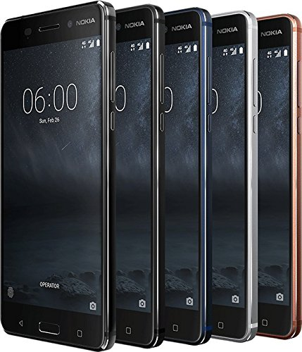 Nokia 6 Smartphone (13,97 cm (5,5 Zoll) Full-HD-Display, 32 GB, Android Nougat) Schwarz Nokia Gsm-cdma