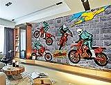 Tapeten Kreatives Motocross Trägt Ein Großes Wandgemälde 3D Tapete Schlafzimmerwohnzimmer Fernsehhintergrundtapete Zur Schau