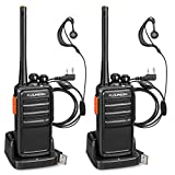 FLOUREON Recargable Walkie Talkie 16 Canales PMR446 MHz Sin...