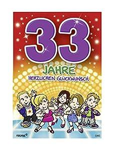 Depesche 5598.046Tarjeta de felicitación con diseño de Archie, 33. Cumpleaños