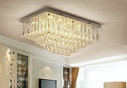 Preisvergleich Produktbild LED im europäischen Stil Wohnzimmer Halle Drei-Farben-Lichtquelle Fernbedienung Crystal Deckenleuchte (Carry The Light Source, mit Fernbedienung)