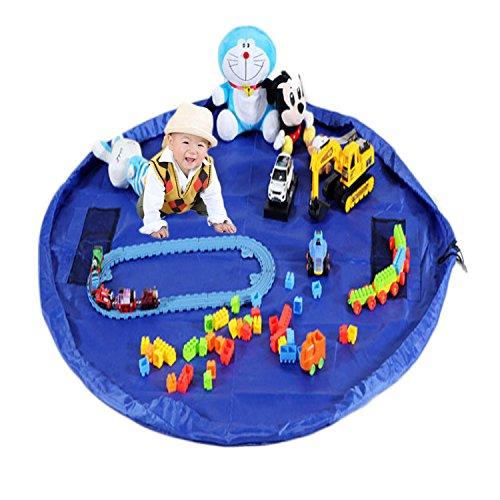 Wasserdicht Kinder Spielzeug Matte Spielzeug Aufbewahrungstasche Kinder Teppich 150cm Durchmesser großen faltbaren und Spielzeug zum Aufhängen Organizer