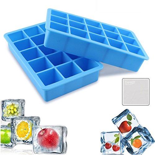 Eiswürfelform,Topoint 2 stücke silikon eiswürfelbehälter,100 % BPA frei Eiswürfel Eiswürfelschalen einfach zu bedienen und waschen für Wasser, Soda, Saft, Wein, Obst, Kräuter, Saucen, Pudding, pürierte Babynahrung in der Tiefkühltruhe, Backofen, Geschirrspüler, Kühlschrank und Mikrowell