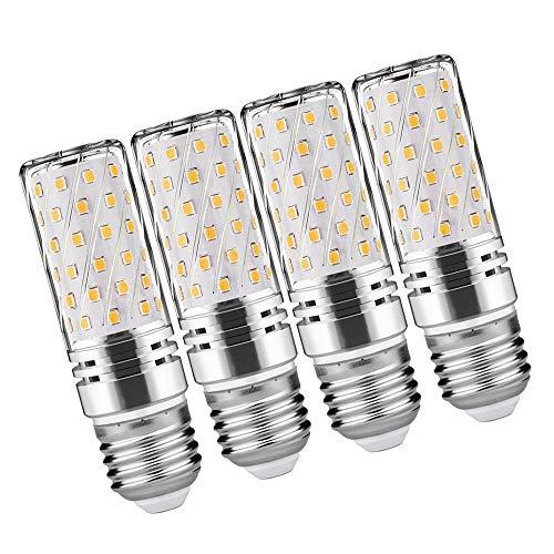 LED Mais Glühbirnen E27 LED 15W Entspricht Glühbirnen 120W Nicht dimmbar 3000K Warmweiß 1500Lm Kleine Edison-Schraube Kerze Leuchtmittel Led Maiskolben (4er-Pack)